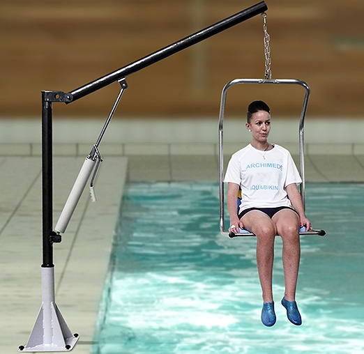 Hydraulic lift for swimming pool and spa archim de for Hydraulic chair lift for swimming pool