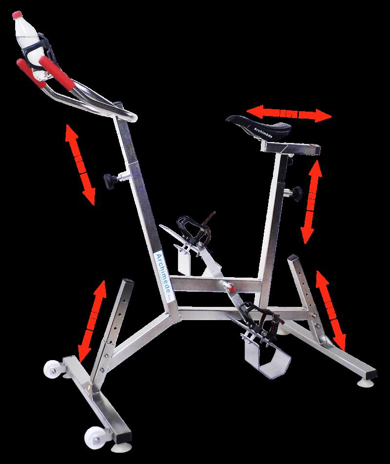 vélo de piscine Family - aquabike - réglages - Archimède