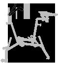 guidon - réglages - aquabike - vélo de piscine spécial XXL - archimède