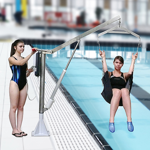 Electrical Motorized lift for swimming pool and spa archimède