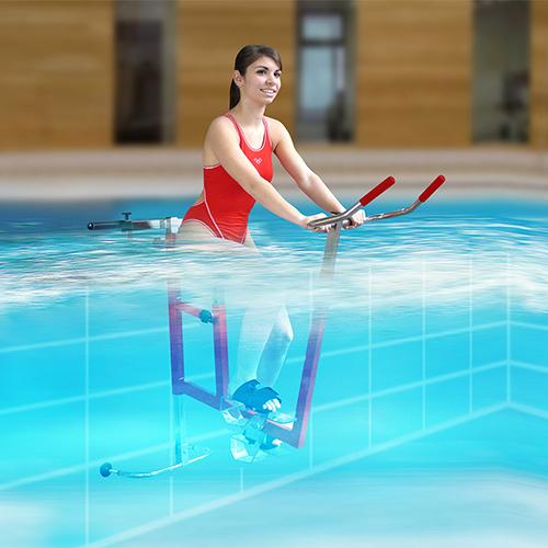 Vélo suspendu de piscine - aquabike Clem - archimède