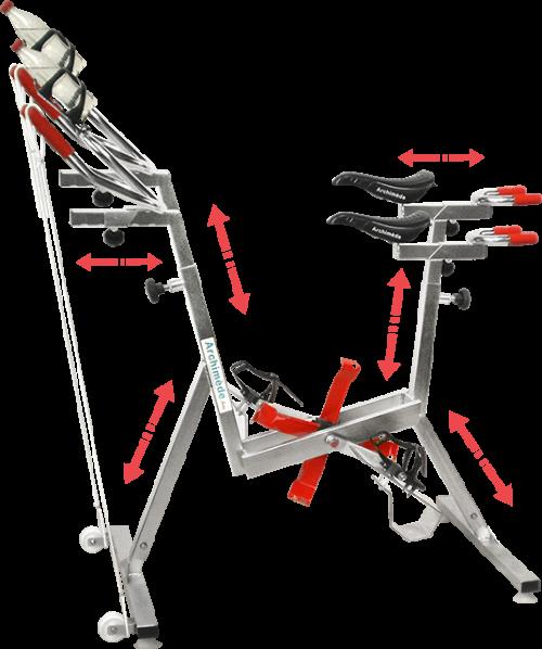 vélo de piscine réglable - aquabike - optima pro - Archimède