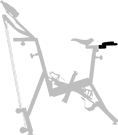 guidon arrière - vélo de piscine - optima pro - Archimède