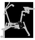 pédalier - réglages - aquabike - vélo de piscine spécial XXL - archimède