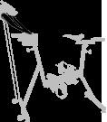 réglages - vélo de piscine - silver - archimède