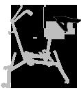 Selle XXL - réglages - aquabike - vélo de piscine spécial XXL - archimède