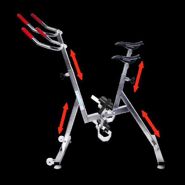 réglages - aquabike - vélo de piscine - Lady - Archimède