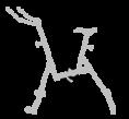 pédales - aquabike - vélo de piscine - lady - archimède