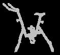 Roulettes - ventouses - vélo de piscine - aquabike - silver - archimède