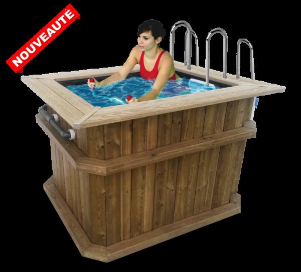 Wood Bath Pour Aquatraining Personnel Archimede Aquafitness