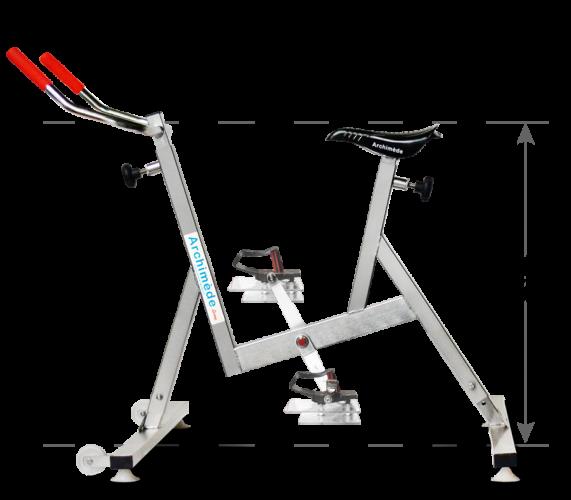 vélo de piscine surbaissé - aquabike -Archimède